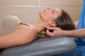 19615021 - suboccipital massage therapy to woman with doctor therapist hands
